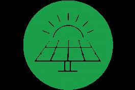 Solar Panels vector green