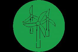 Wind Turbines vector green